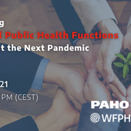 Webinar: Advancing Essential Public Health Functions to Prevent the Next Pandemic